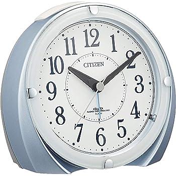 CITIZEN シチズン 目覚まし時計 電波時計 ネムリーナマロンF ブルー 119x124x69mm 4RL431-N04