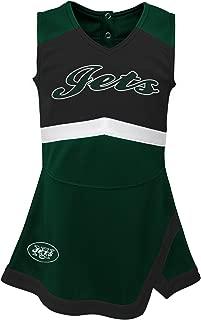 NFL NFL New York Jets Kids & Youth Girls Cheer Captain Jumper Dress Hunter Green, Youth Large(14)