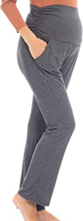 Women's Maternity Casual Pants Stretchy Lounge Trousers...