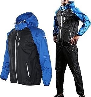 サウナ スーツ トレーニングウェア 大量発汗 フード付き TRAN ランニング ジョギング ウォーキング ダイエット メンズ レディース 男女兼用 上下セット