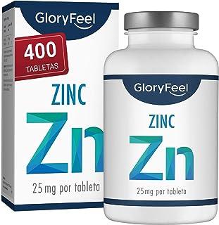 Zinc 25mg 400 Tabletas - Alta dosificación y vegano - 25 mg