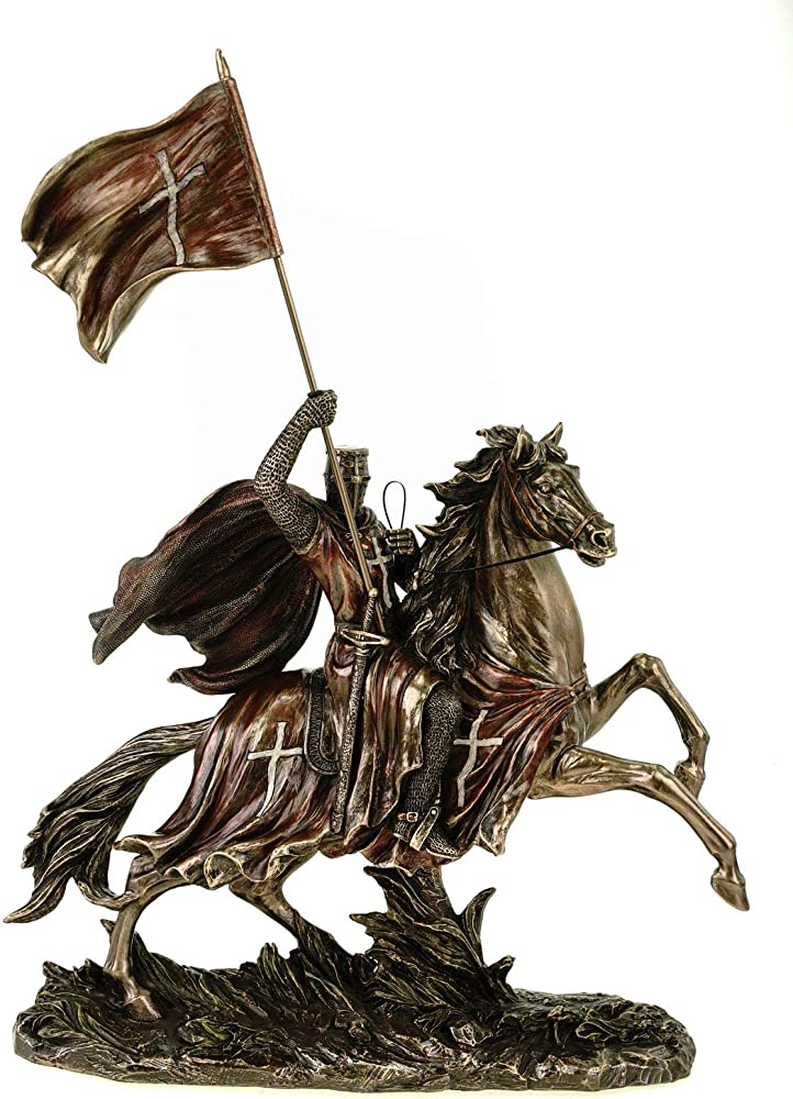 Veronese - cavaliere knight medievale con bandiera