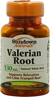 Sundown Valerian Root, 100 Capsules (Pack of 4)