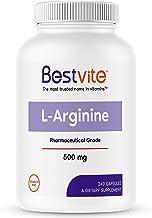 L-Arginine 500mg (240 Capsules) - No Stearates - No Fillers - Non GMO - Gluten Free