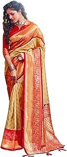 بلوزة ساري حريرية ناعمة من الصوف الصناعي للنساء متعدد الألوان طراز هندي 5744