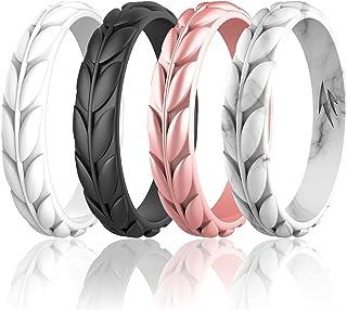 زولن زیتون حلقه های عروسی سیلیکونی برای زنان ، حلقه های عروسی لاستیکی قابل انعطاف ، سیلیکون ضد آلرژی