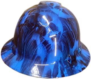 Izzo Graphics Blue Toxic Skull Pyramex Ridgeline Full Brim Hard Hat