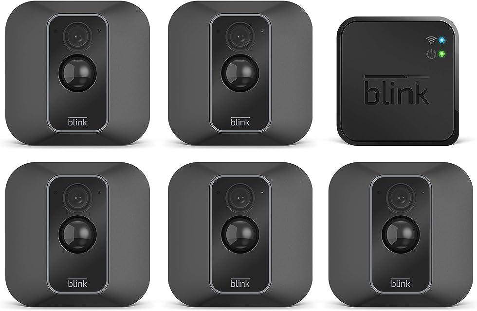 Blink XT2 | Cámara de seguridad inteligente exteriores e interiores almacenamiento en el Cloud audio bidireccional 2 años de autonomía | 5 cámaras