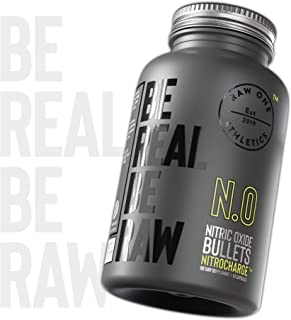 Nitrocharge™ Nitric Oxide Booster with Extra Strength L Arginine Supplement by Raw One | 1400mg PreWorkout Arginine L Citr...