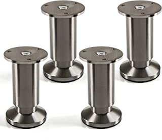 comprar comparacion Juego de 4 x SO-TECH® Patas de Mueble ALPHA Alto ajustable Aspecto de Acero fino cepillado Capacidad de Carga hasta 250 kg...