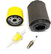 Tune Up/Maintenance Kit for Mower with Briggs & Stratton Engines, Air Filter Replaces 591134 594201 796031, Pre-Filter for 797704, Oil Filter for 492932 695396 696854, Spark Plug for PRC12YC 491055