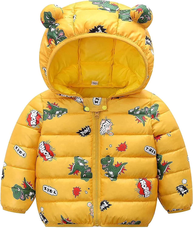YOYO.RI Toddler Fixed price for sale Baby Cartoon Hooded Warm - Wi Boy Girl Daily bargain sale Kids Coat