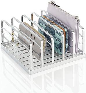 mDesign organizer do torby sprzęgła – praktyczna torebka do przechowywania z 5 sekcjami na torebki, portfele, torebki na k...