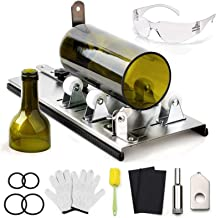 DoreenBow Bottle Cutter Kit Glass Bottle Cutter Tool for Round, Square and Oval Bottle Cutting Glass Cutting Tool with Glo...
