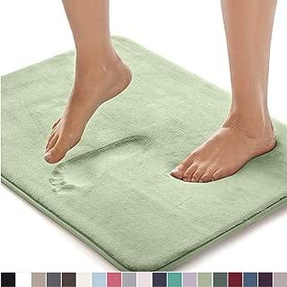 Gorilla Grip Original Thick Memory Foam Bath Rug, 24x17, Cushioned, Soft Floor Mats, Absorbent Premium Bathroom Mat Rugs, Machine Washable, Luxury Plush Comfortable Carpet for Bath Room, Sage