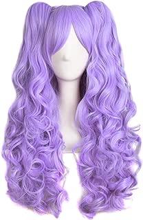 purple pigtail wig