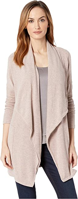 So Soft Sweater Knit Long Line Cardigan with Patch Pockets