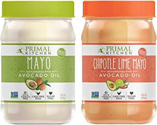 Primal Kitchen - Chipotle Lime & Original Avocado Oil Mayo Combo Pack, Whole30 & Paleo Approved, Now With 33% More Mayo in The New PET Plastic Jar (16 oz)