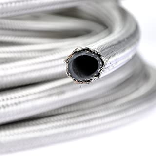 theBlueStone -4AN -6AN -8AN -10AN Braided Fuel Line Hose 10FT -6AN Stainless Steel Braided for 3/8