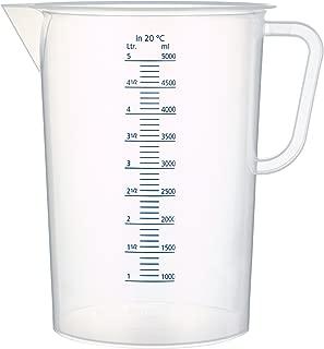 graduations 250/ml Eisco Labs 5/litre en polypropyl/ène B/écher avec poign/ée et bec