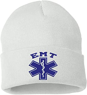 Allntrends Adult Beanie EMT Embroidered Emergency Medical Hat Winter Holiday Cap