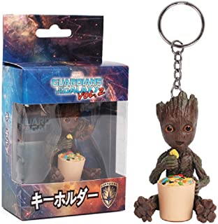 KEQI Groot Action Figures Guardians of The Galaxy Baby Cute Model Key Chain Toys Best Christmas Gifts (TYPE 2)