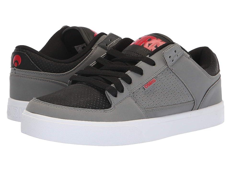 11b6abf7de6 Osiris Protocol (Grey/Black/Red) Men's Skate Shoes
