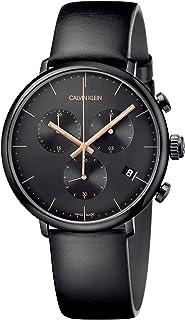 Calvin Klein Men's Quartz Watch, Chronograph Display and Leather Strap K8M274CB