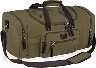 Dream Hunter Oversized Canvas Travel Tote Duffel Bag for Men Shoulder Weekender Overnight Carry on Luggage Storage Duffle Bag