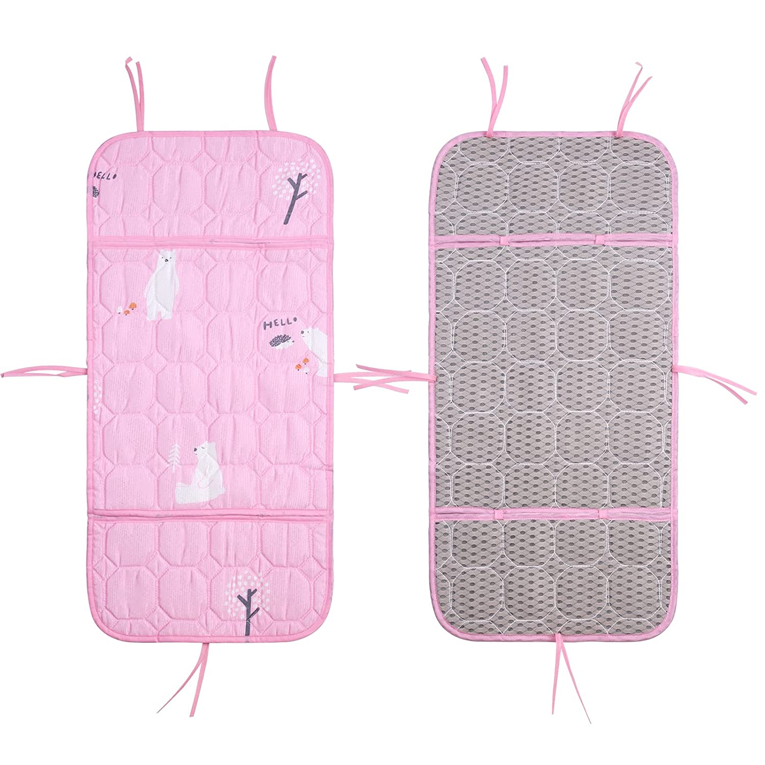 Natural Latex Stroller Liner, Baby Car Seat Cooler Mats, Cooling Feeding Chair Cover, 3D Mesh Liner Seat Pad-Comfortable Cushion Mat for Baby