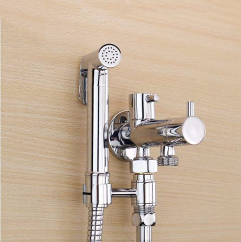 XJTNLB Pressurized handheld shower applicators shower shower shower shower toilet valve faucet set,B