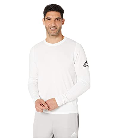 adidas Freelift Badge Of Sport Long Sleeve Tee (White) Men