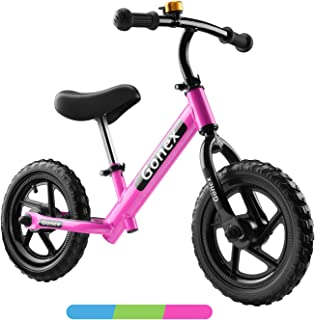 Gonex 12 Inch Toddler Balance Bike Lightweight No Pedal Kids Bicycle Push Bike with Aluminum Alloy Frame & EVA Foam Tires for 2, 3, 4, 5 Years Old Boys Girls