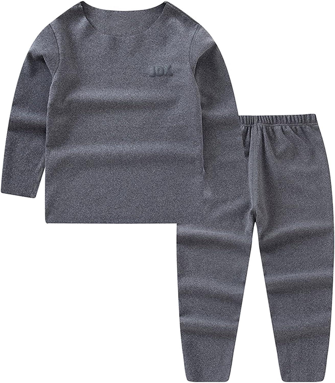 Schbbbta Boys' Girls' Seamless Thermal Underwear Pajama Set, 2 - 15 Years