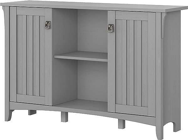 Bush Furniture SAS147CG 03 Accent Storage Cabinet With Doors Cape Cod Gray