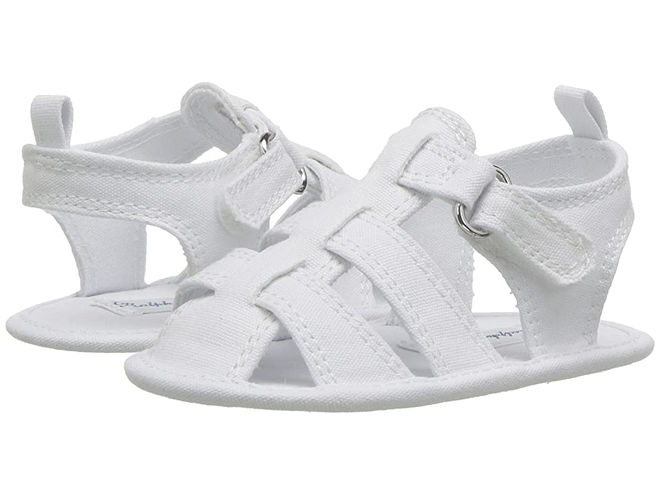 Polo Ralph Lauren Kids Jullien Fisherman (Infant/Toddler) (White Canvas) Girls Shoes