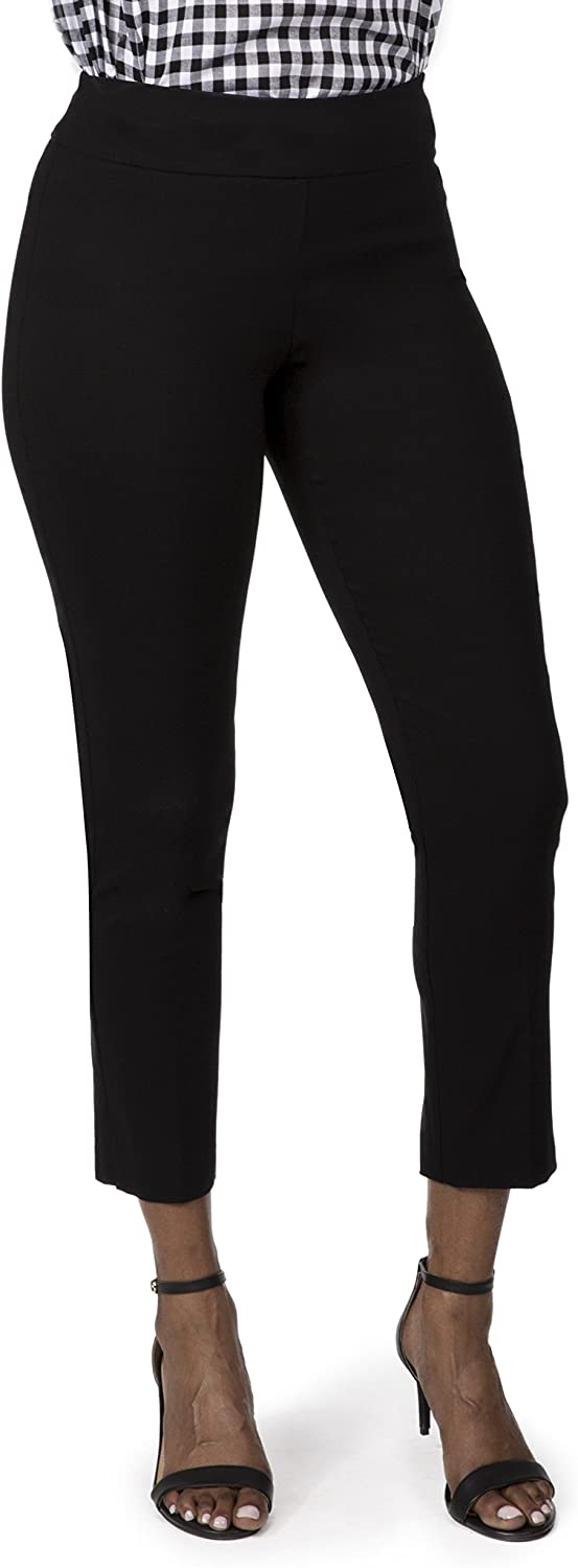 Fundamental Things Women's Pull On Comfort Slim Ankle Pant with Tummy Control