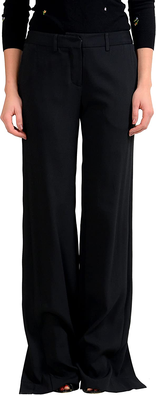 Maison Margiela 1 Wool Beads Decorated Wide Leg Women's Casual Pants US M IT 42