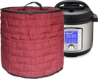 Pressure Cooker Dust Cover with Pocket, (For 8 Quart Instant Pot, Wine red)