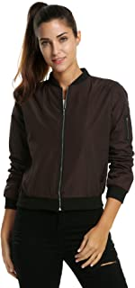 Zeagoo Womens Classic Quilted Jacket Short Bomber Jacket...