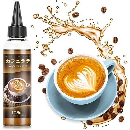 ARASHI 電子タバコ リキッド カフェラテ味 105ml大容量 vapeリキッド ミントメンソール10ml付 自由でDIY可能 milk coffee