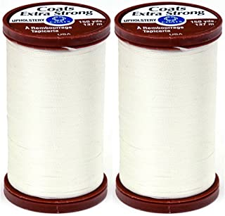 2-Pack - Coats & Clark S964-8010 Extra Strong Upholstery Thread, 150-Yard, Natural