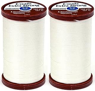 Cream Bundle with 1 Artsiga Crafts Seam Ripper S975-8020-3P Coats /& Clark Sewing Thread Machine Quilting Pure Egyptian Cotton Thread 350 Yards 3-Pack