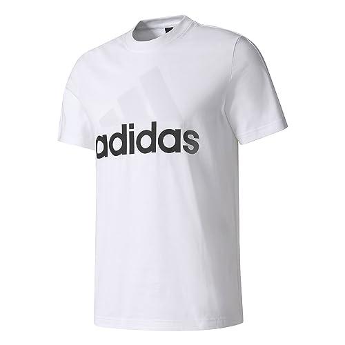 adidas Ess Linear Camiseta, Hombre, Blanco (White), M