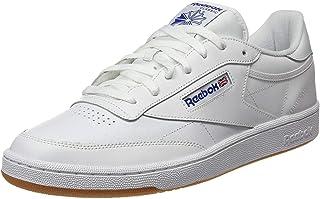 Reebok Club C 85, Unisex Adults' Gymnastics, White (Int/White/Royal/Gum Int/White/Royal/Gum), 2.5 UK (34 EU)
