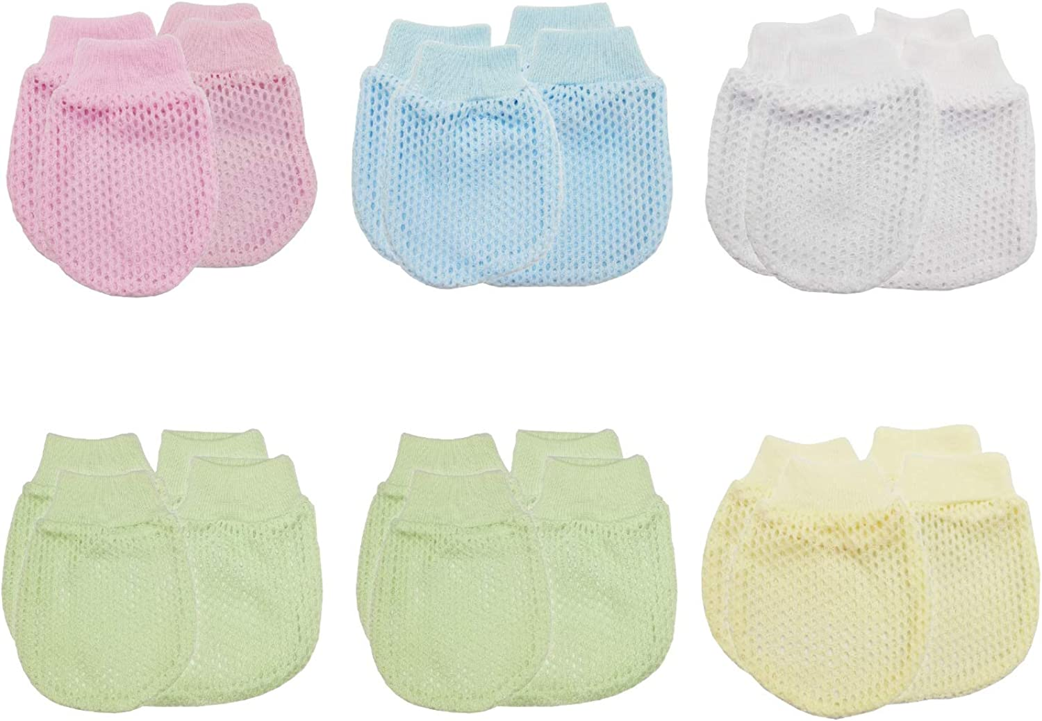 Newborn Unisex Baby Mitten and Booties, Infant Gloves and Socks, Breathable, 100% Cotton for 0-12 months