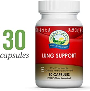 Nature's Sunshine Lung Support, Chinese TCM Concentrate, 30 Capsules | Herbal Chinese Formula to Boost The Immune System, Build Energy and Support The Respiratory System