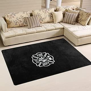Fire Department Logo Firefighter Doormats Floor Mat Non-Slip Area Rugs Kitchen Home Decor Living Room Bedroom Carpets23.6 x 15.7