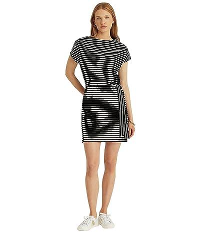 LAUREN Ralph Lauren Petite Striped Cotton Jersey Tee Dress