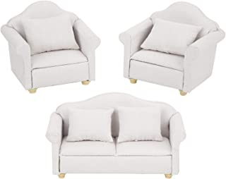 Poppenhuis Sofa niet giftig voor huisdecoratie voor woonkamer (wit)